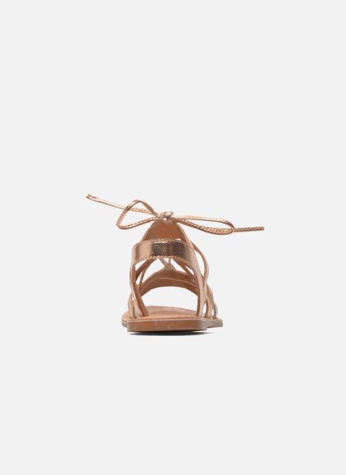 Sandaler I Love Shoes SUGLI Leather Bronze och Guld Bild från höger sidan