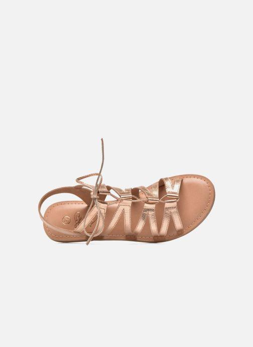 Sandalias I Love Shoes SUGLI Leather Oro y bronce vista lateral izquierda