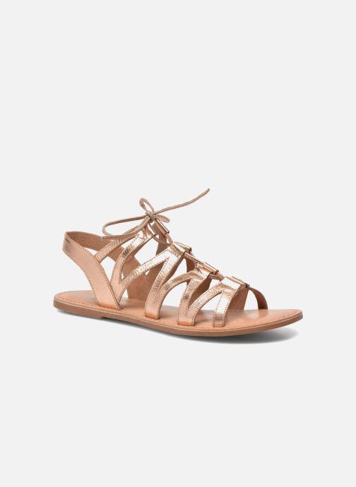 Sandaler I Love Shoes SUGLI Leather Bronze och Guld detaljerad bild på paret