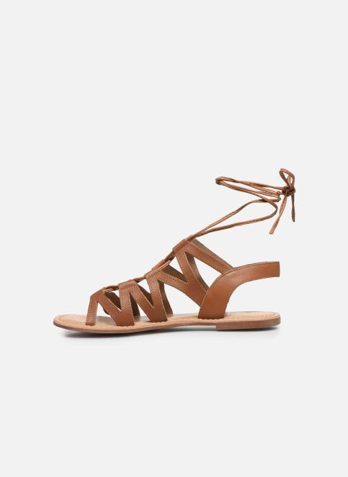 Sandales et nu-pieds I Love Shoes SUGLI Leather Marron vue face