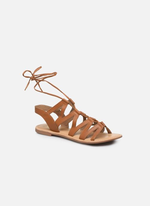 Sandales et nu-pieds I Love Shoes SUGLI Leather Marron vue détail/paire