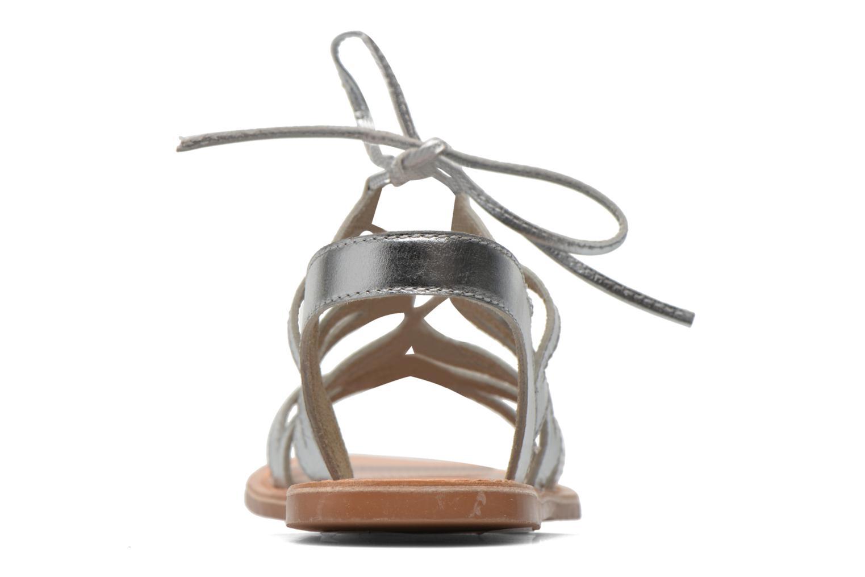 Sandales et nu-pieds I Love Shoes SUGLI Leather Argent vue droite