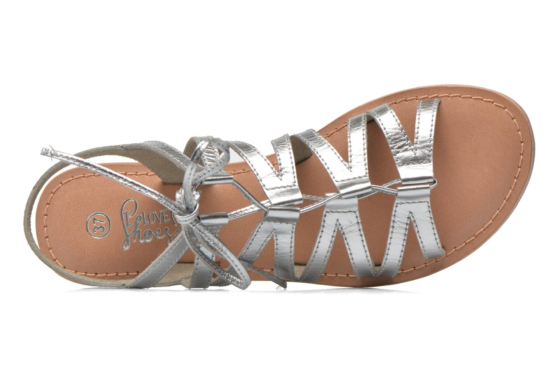 Sandales et nu-pieds I Love Shoes SUGLI Leather Argent vue gauche