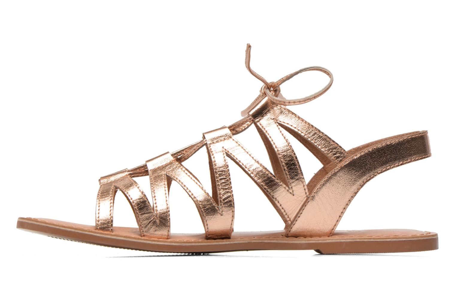 Sandales et nu-pieds I Love Shoes SUGLI Leather Or et bronze vue face