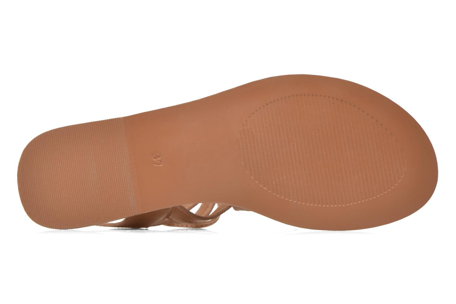 Sandales et nu-pieds I Love Shoes SUGLI Leather Or et bronze vue haut