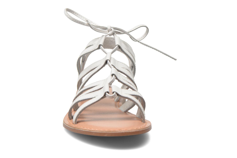Sandales et nu-pieds I Love Shoes SUGLI Leather Blanc vue portées chaussures