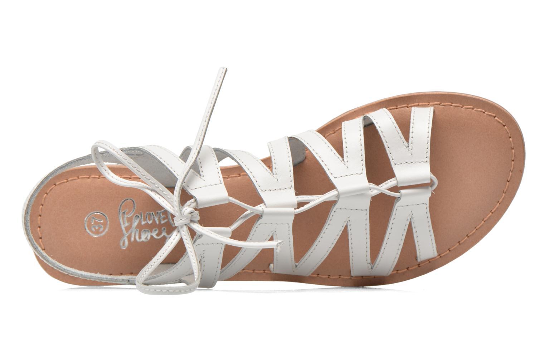 Sandales et nu-pieds I Love Shoes SUGLI Leather Blanc vue gauche