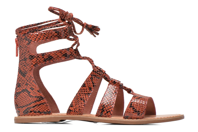 Sandalias I Love Shoes SUGLIHIGH CUIR Rojo vistra trasera
