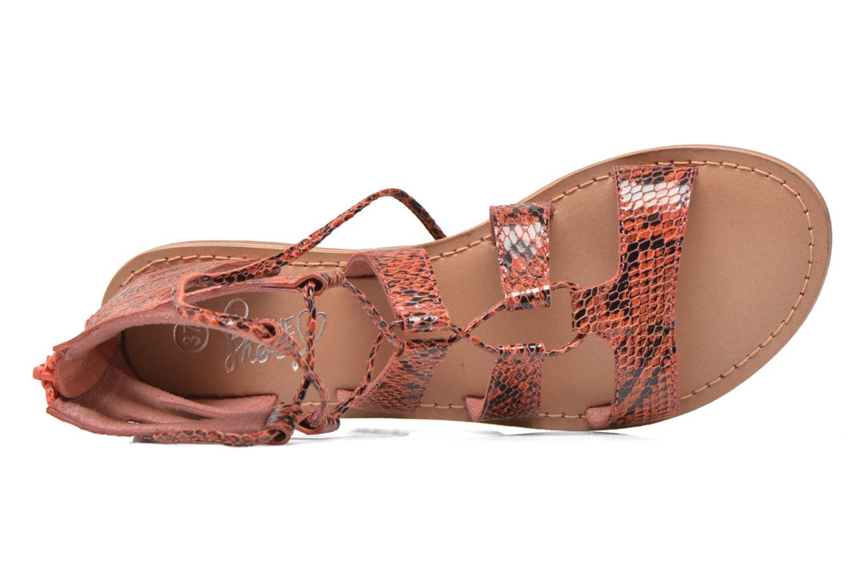 Sandalias I Love Shoes SUGLIHIGH CUIR Rojo vista lateral izquierda