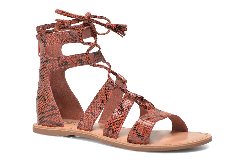 Sandalias I Love Shoes SUGLIHIGH CUIR Rojo vista de detalle / par