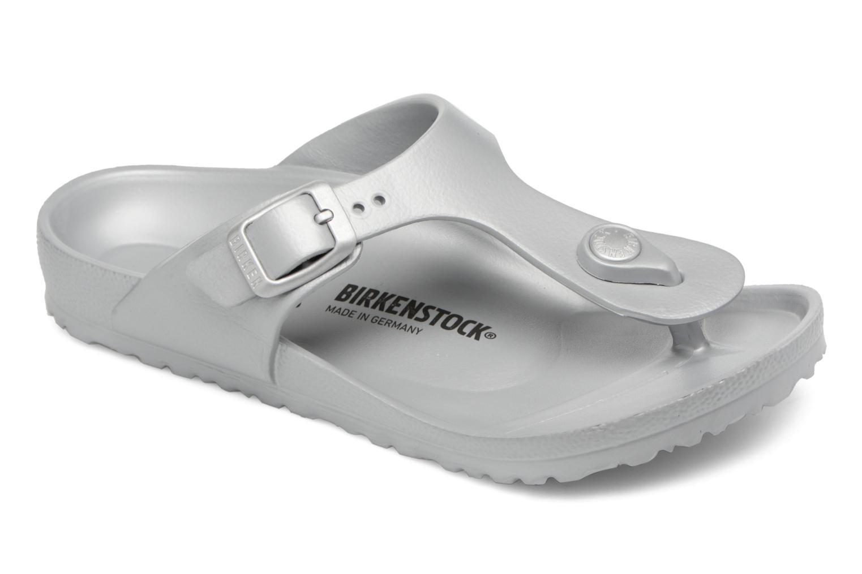 Sandales et nu-pieds Birkenstock Gizeh EVA Argent vue détail/paire