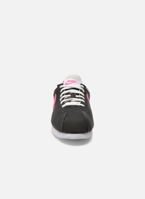 Deportivas Nike Nike Cortez Nylon (Gs) Negro vista del modelo