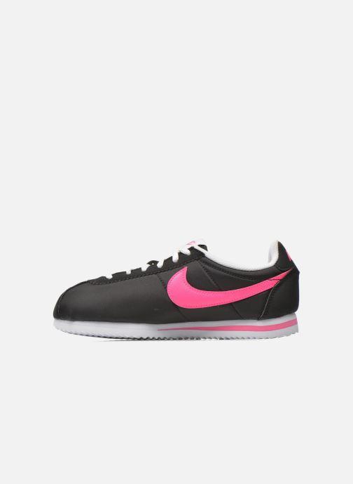 Deportivas Nike Nike Cortez Nylon (Gs) Negro vista de frente