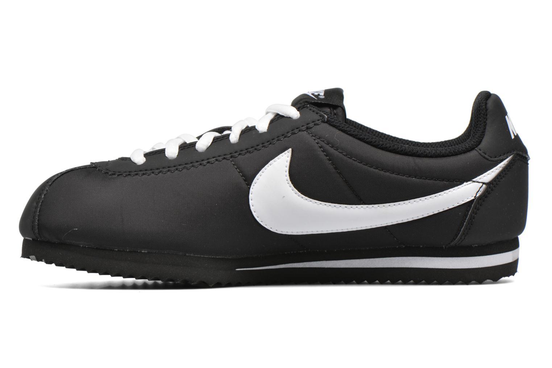 Baskets Nike Nike Cortez Nylon (Gs) Noir vue face