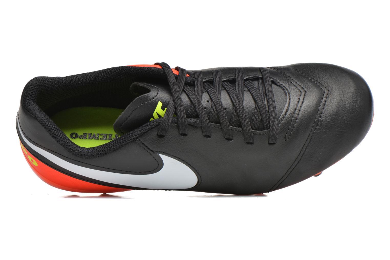 Chaussures de sport Nike Jr Tiempo Legend Vi Fg Noir vue gauche