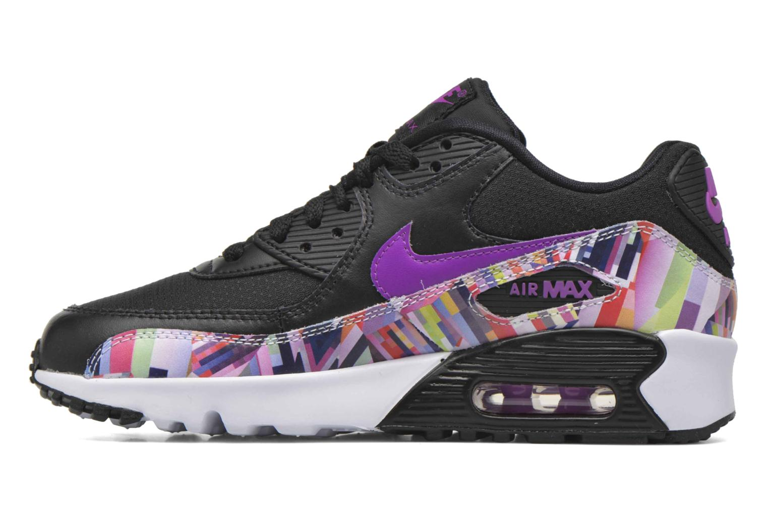 Baskets Nike Nike Air Max 90 Print Mesh Gs Noir vue face