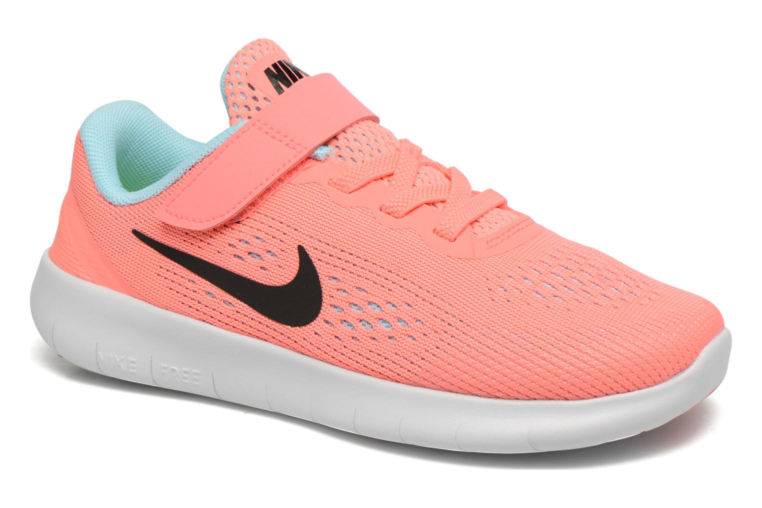 Trainers Nike Nike Free Rn (Psv) Pink detailed view Pair view