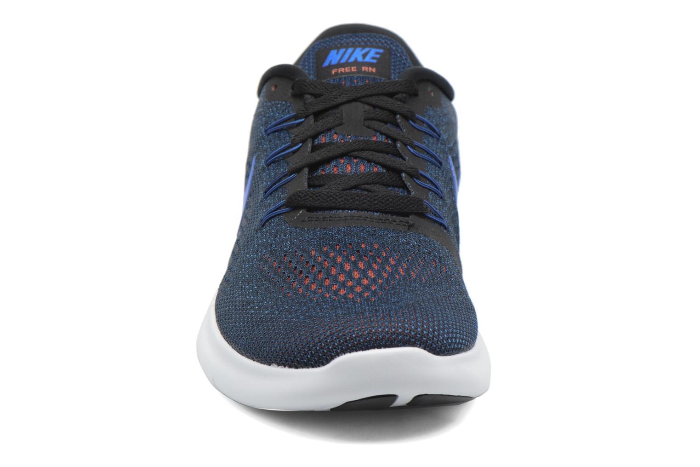 Chaussures de sport Nike Nike Free Rn Bleu vue portées chaussures