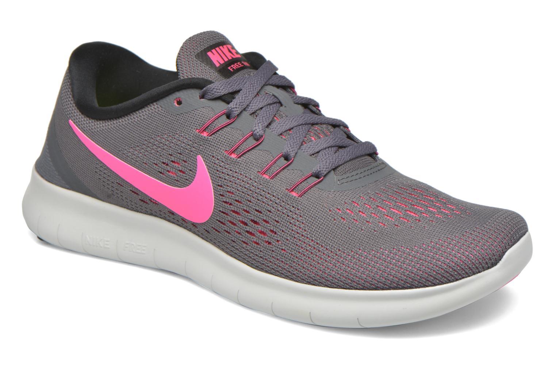 Chaussures de sport Nike Wmns Nike Free Rn Gris vue détail/paire