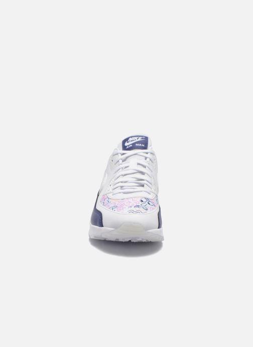 Baskets Nike W Air Max 90 Ultra Print Blanc vue portées chaussures