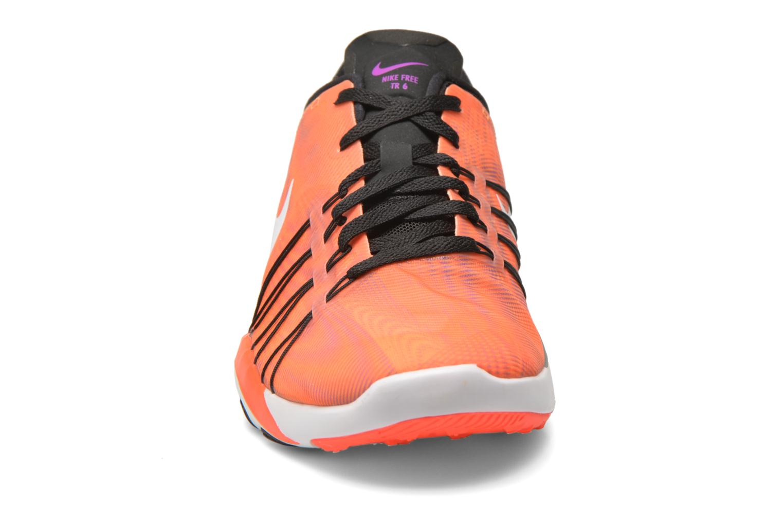 Chaussures de sport Nike Wmns Nike Free Tr 6 Prt Orange vue portées chaussures