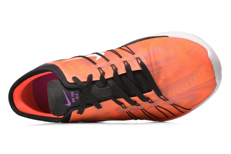Chaussures de sport Nike Wmns Nike Free Tr 6 Prt Orange vue gauche