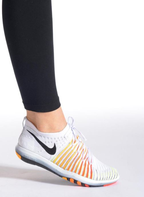 Chaussures de sport Nike Wm Nike Free Transform Flyknit Orange vue bas / vue portée sac
