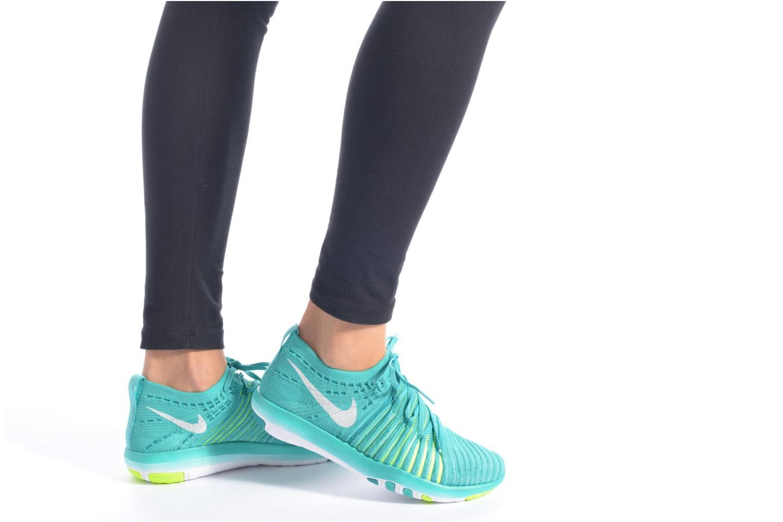 Chaussures de sport Nike Wm Nike Free Transform Flyknit Vert vue bas / vue portée sac