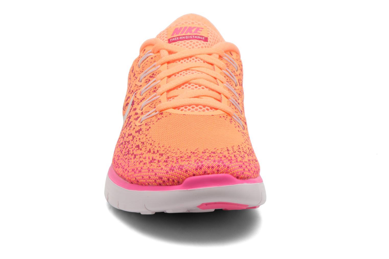 Chaussures de sport Nike Wmns Nike Free Rn Distance Orange vue portées chaussures