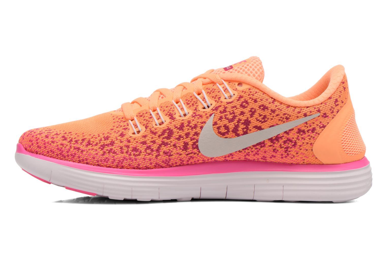 Chaussures de sport Nike Wmns Nike Free Rn Distance Orange vue face