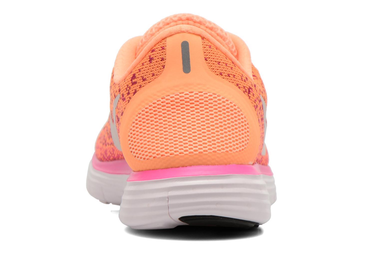 Chaussures de sport Nike Wmns Nike Free Rn Distance Orange vue droite