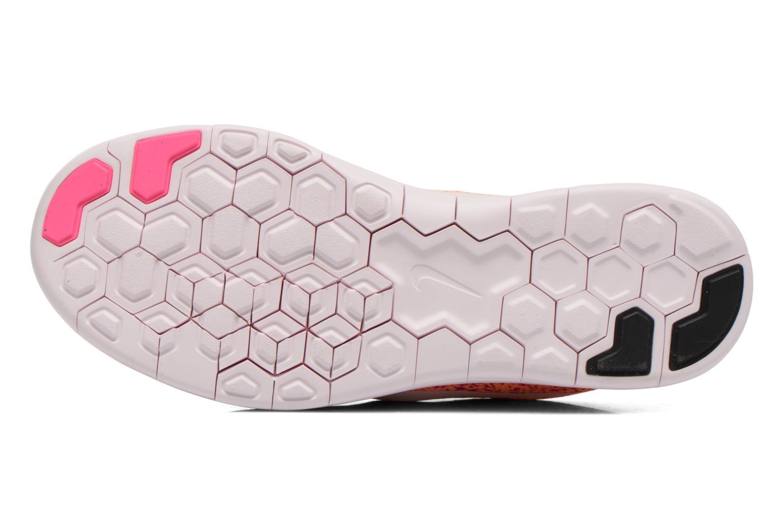 Chaussures de sport Nike Wmns Nike Free Rn Distance Orange vue haut