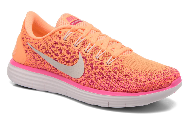 Chaussures de sport Nike Wmns Nike Free Rn Distance Orange vue détail/paire