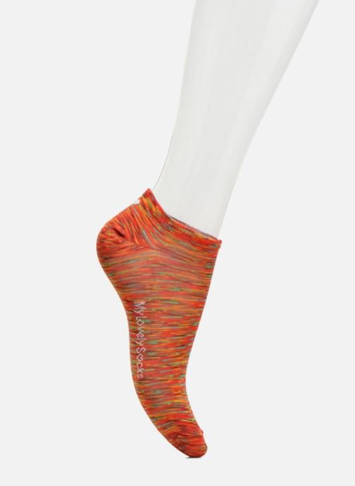 Calze e collant My Lovely Socks Chaussettes Mixte Claire Rosso immagine frontale
