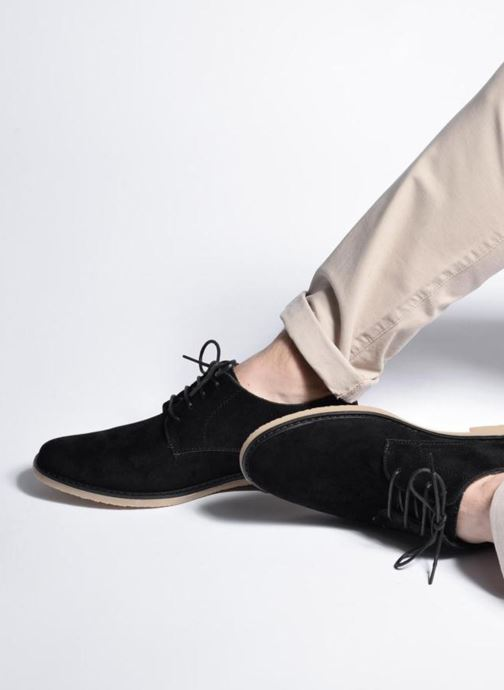 Lace-up shoes I Love Shoes SUPERBES Brown view from underneath / model view