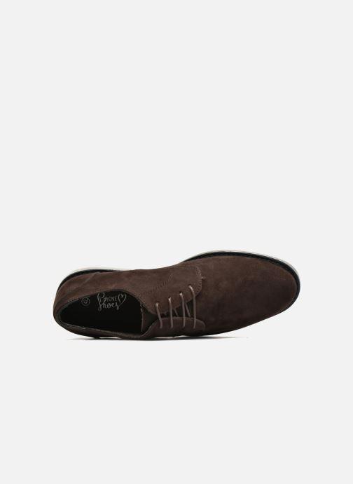 Zapatos con cordones I Love Shoes SUPERBES Marrón vista lateral izquierda