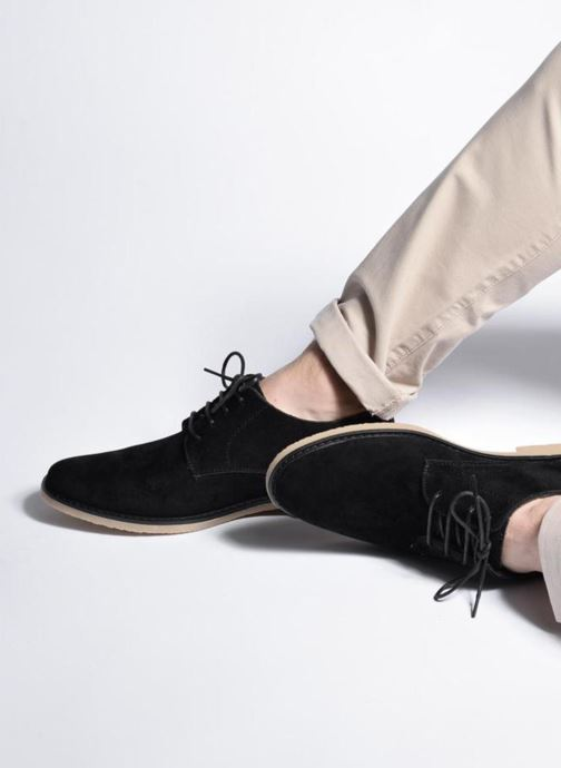 Lace-up shoes I Love Shoes SUPERBES Grey view from underneath / model view