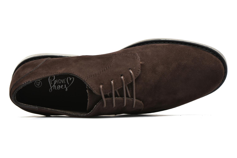 Snörade skor I Love Shoes SUPERBES Brun bild från vänster sidan