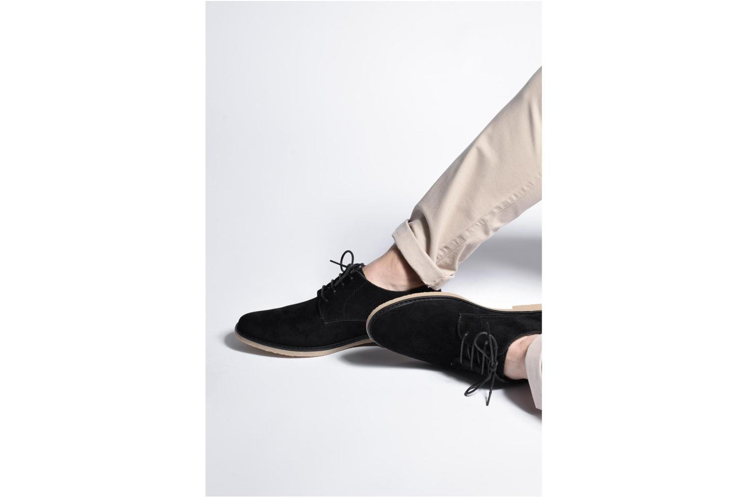 Lace-up shoes I Love Shoes SUPERBES Black view from underneath / model view