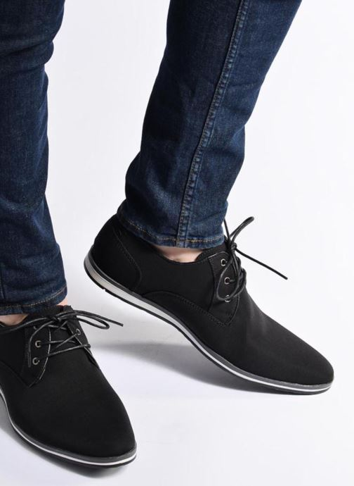 Lace-up shoes I Love Shoes SUPERAS Black view from underneath / model view