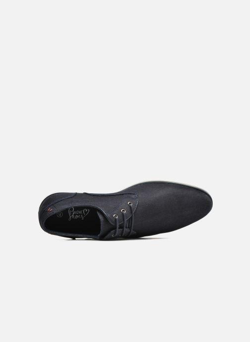 Zapatos con cordones I Love Shoes SUPERAS Azul vista lateral izquierda