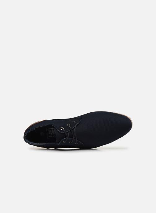 Scarpe con lacci I Love Shoes SUPERAS Azzurro immagine sinistra