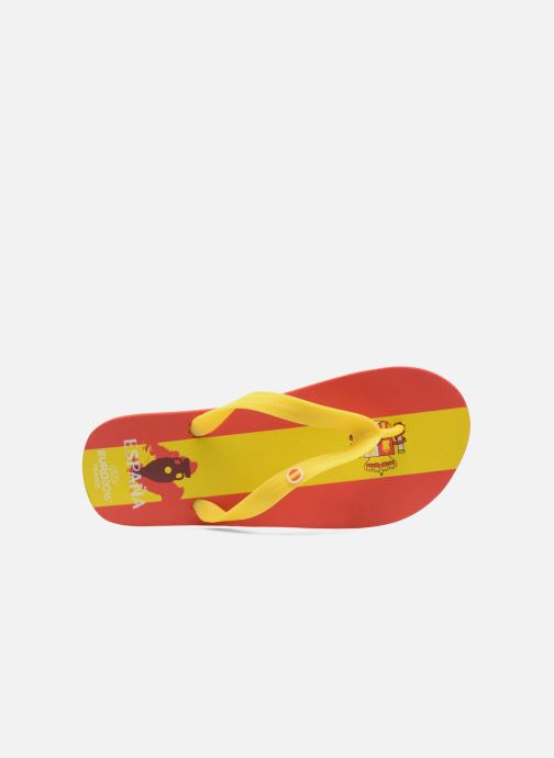 Flip flops EURO 16 Léonard Yellow view from the left