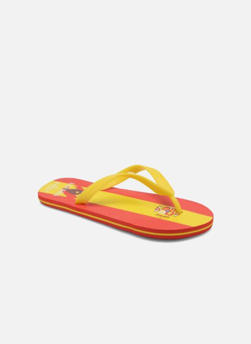 Flip flops EURO 16 Léonard Yellow detailed view/ Pair view