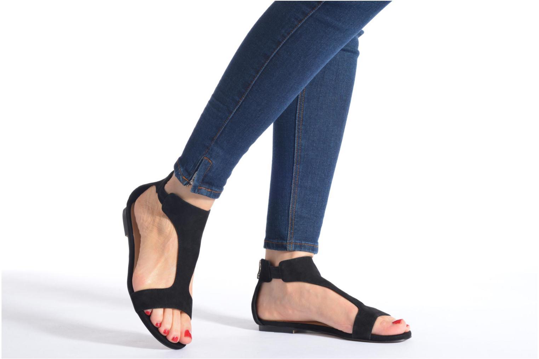 Sandales et nu-pieds Jonak Summer Noir vue bas / vue portée sac
