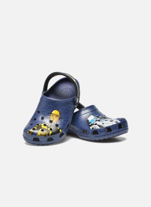 Sandalias Crocs Classic Star Wars R2D2 C3PO Azul vista 3/4