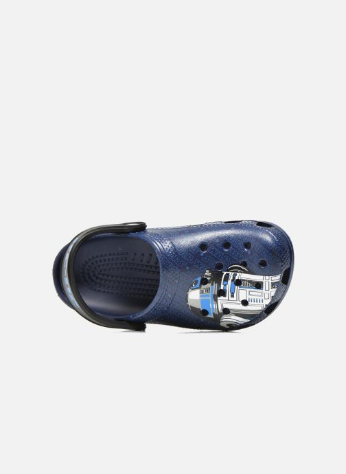 Sandalias Crocs Classic Star Wars R2D2 C3PO Azul vista lateral izquierda