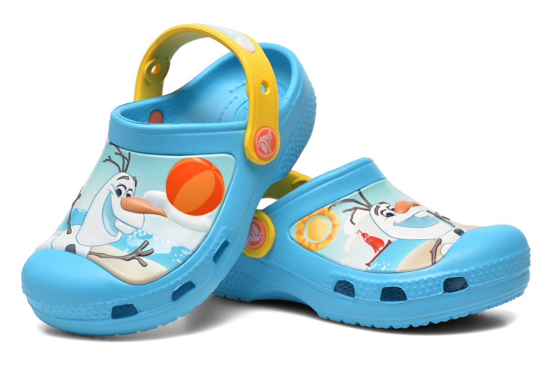 Sandales et nu-pieds Crocs CC Olaf Clog Bleu vue 3/4