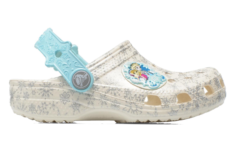 Sandales et nu-pieds Crocs Classic Frozen Clog K Blanc vue derrière