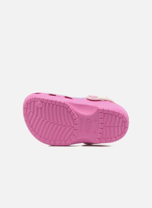 Sandales et nu-pieds Crocs CC FrozenFever Clog K Rose vue haut